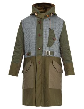 contrast-panel-hooded-cotton-parka by junya-watanabe