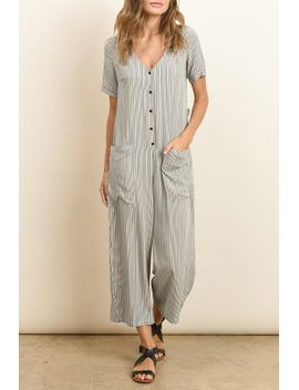 taupe-black-striped-wide-leg-jumpsuit by shipwreck
