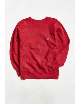 vintage-champion-crimson-red-reverse-weave-crew-neck-sweatshirt by urban-outfitters-vintage