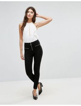 asos-skinny-ponte-pants-with-ring-zip-pull by asos-collection