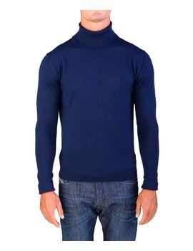 valentino-mens-turtleneck-sweater-navy-blue by valentino