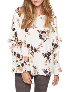 bianca-ruffle-floral-print-top by sanctuary
