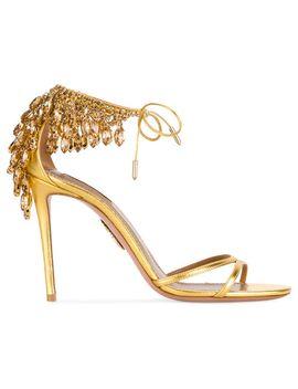 gold-eden-bead-105-sandals by aquazzura
