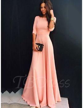 half-sleeve-plain-womens-maxi-dress by --tbdress