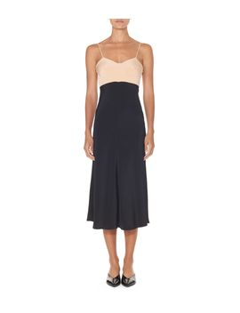 black-multi-silk-bias-dress by shopbazaar