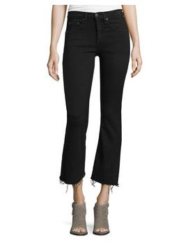 mid-rise-cropped-flare-leg-jeans,-black-coal by rag-&-bone