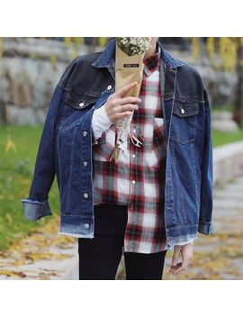 embroidered-denim-jacket by yesstyle