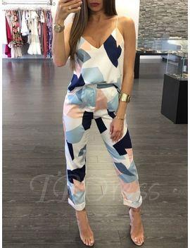 sleeveless-v-neck-printing-slim-womens-jumpsuit by sleeveless-v-neck-printing-slim-womens-jumpsuit
