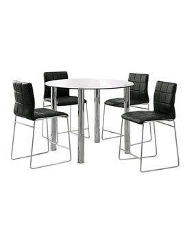 5pc-glass-top-chrome-leg-round-counter-dining-table-set-metal_black by shop-this-collection