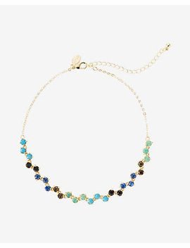 zigzag-multicolor-stone-choker-necklace by express