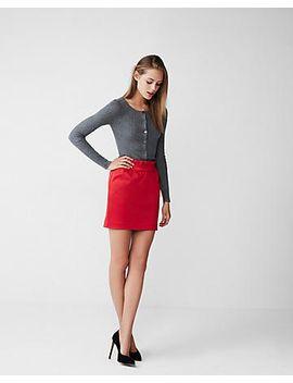 high-waisted-gathered-satin-mini-skirt by express
