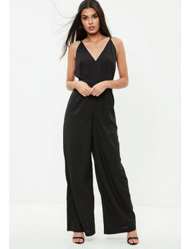black-strappy-back-wide-leg-jumpsuit by missguided
