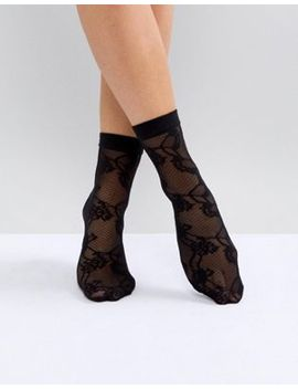 asos-lace-mesh-ankle-sock by asos-collection