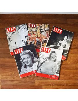 pack-of-five-vintage-life-magazines-from-1945 by etsy