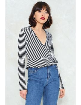 full-of-peplum-striped-top by nasty-gal