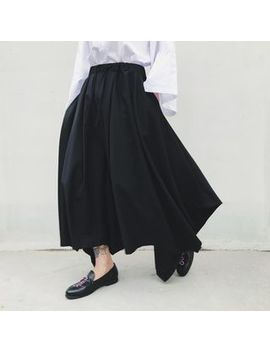 bjorn---asymmetrical-hem-gaucho-pants by bjorn