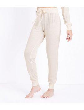 cream-glitter-stripe-pyjama-joggers by new-look