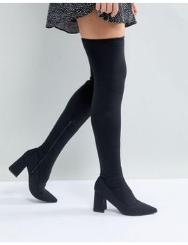 river-island-over-the-knee-point-toe-scuba-boot by river-island