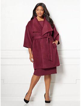 delfina-coat---plus---eva-mendes-collection by new-york-&-company