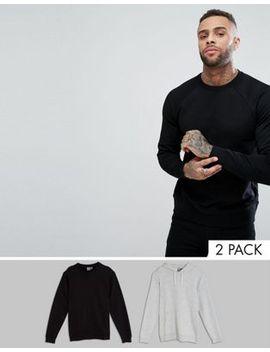 asos---lot-de-2-hoodie_sweat-shirt---noir_gris-chiné---Économie by asos