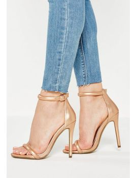 gold-two-strap-barely-there-sandals by missguided