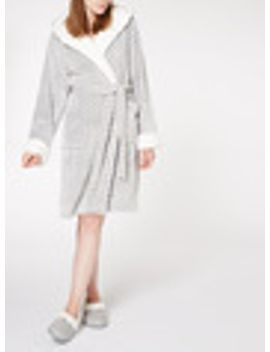 chevron-print-dressing-gown by tu