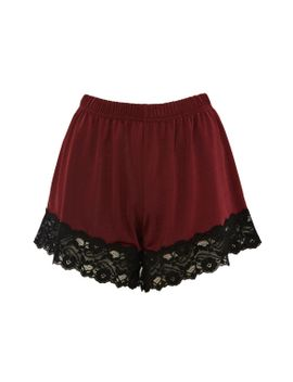 satin-jersey-and-lace-shorts by topshop