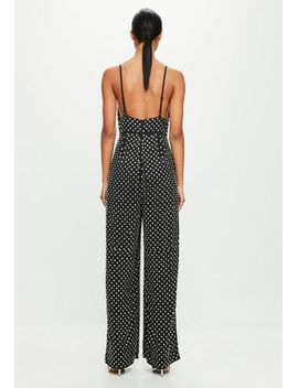 peace-+-love-black-hotfix-flared-jumpsuit by missguided