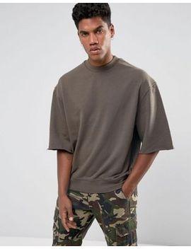 brooklyns-own-sweatshirt-in-brown-with-raw-hem-sleeves by brooklyns-own