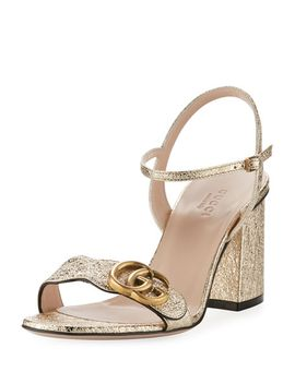 75mm-marmont-metallic-sandal by gucci