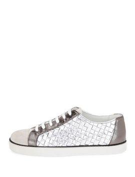 intrecciato-low-top-sneaker by bottega-veneta