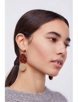 resin-disc-drop-hoop-earrings by free-people