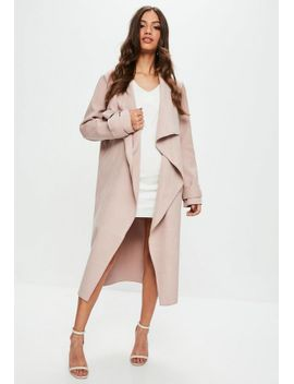 nude-oversized-waterfall-duster-jacket by missguided