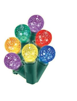 philips-200ct-christmas-led-faceted-sphere-string-lights-multicolored-gw by philips