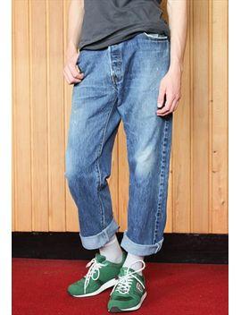vintage-blue-levis-501-paint-jeans by no-brand-name
