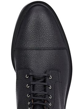 grained-leather-lace-up-ankle-boots by thom-browne