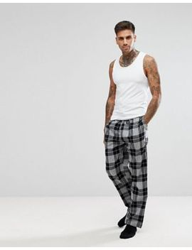 new-look-pyjama-bottoms-in-black-check by new-look