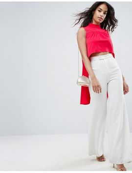 asos-top-with-dramatic-ruffle-drop-hem by asos-collection