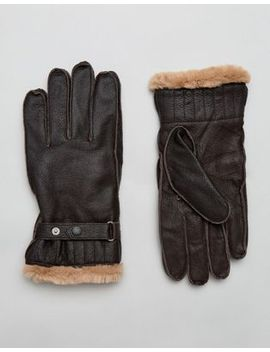barbour-–-utility-handschuhe-aus-leder,-in-braun by barbour