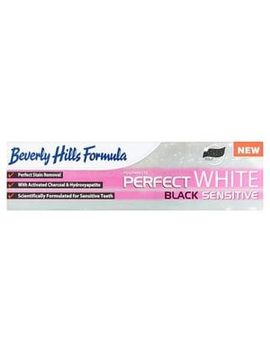 beverly-hills-perfect-white-black-sensitive-toothpaste-100ml by superdrug