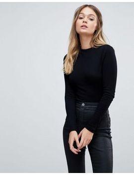asos-design---body-nero-a-collo-alto-con-maniche-lunghe by asos-collection