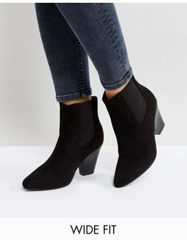 new-look-wide-fit-pointed-western-heeled-ankle-boot by new-look