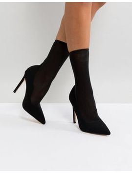 river-island-mesh-sock-heeled-court by river-island