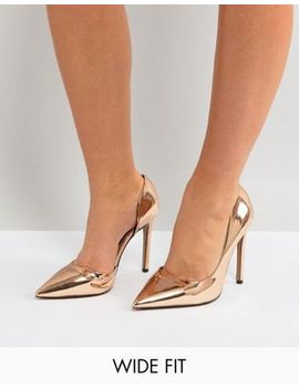 river-island-wide-fit-heeled-pumps by river-island