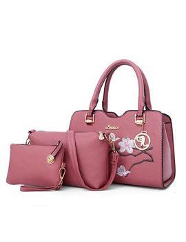 set-of-3:-satchel-+-cross-bag-+-wristlet by yesstyle