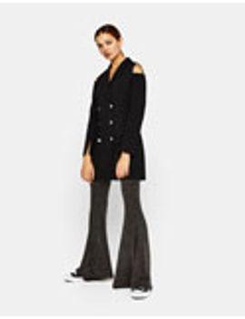 maxi-flare-trousers-with-metallic-thread by bershka