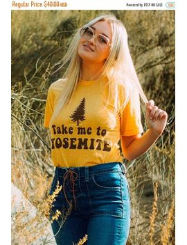 take-me-to-yosemite--womens-tshirt--vintage-inspired-70s-tshirt-monogram-tshirt-camp-shirt-graphic-tee-unisex-tshirt-yosemite-t by etsy