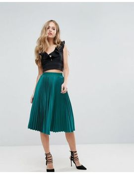 outrageous-fortune-full-pleated-midi-skirt by outrageous-fortune