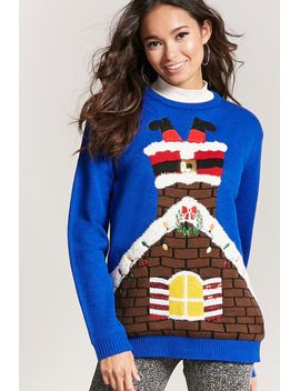 light-up-santa-chimney-holiday-sweater by forever-21