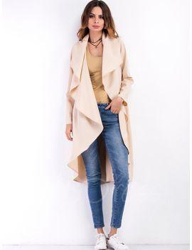 lapel-cardigan-long-thin-falbala-womens-trench-coat by lapel-cardigan-long-thin-falbala-womens-trench-coat